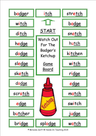 Printables List Of Words With Tch with ch and tch scalien words scalien